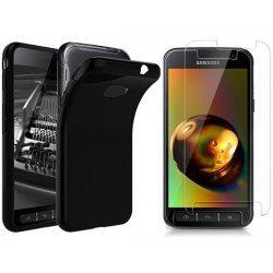 Silikonski etui, črn+ zaščitno steklo za Samsung Galaxy Xcover 4