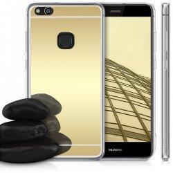"""Silikonski etui """"Mirror"""" za Huawei P10 Lite, Zlata barva"""