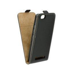 """Preklopna torbica, etui """"flexi"""" za Lenovo Vibe C, črna barva"""