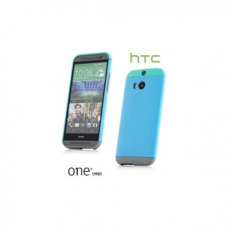 Etui za HTC One M8 Hard Shell Double Dip HC C940 Zadnji pokrovček Modra barva