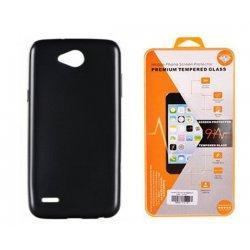"""Silikonski etui """"Jelly"""" črn + zaščitno steklo za LG X Power 2"""