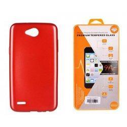 """Silikonski etui """"Jelly"""" rdeč + zaščitno steklo za LG X Power 2"""