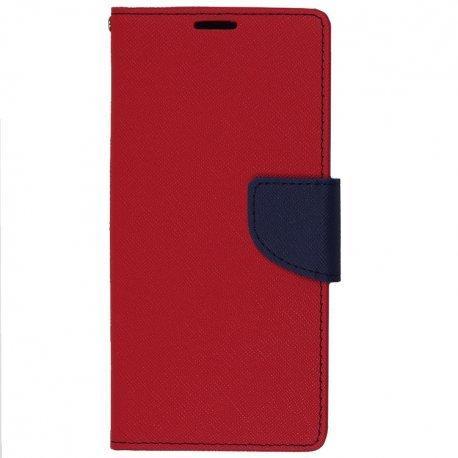 "Preklopna torbica, etui ""Fancy"" za LG Q6, Rdeča barva"