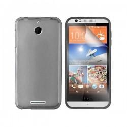 Silikon etui za HTC Desire 510 +Folija ekrana,Temna barva