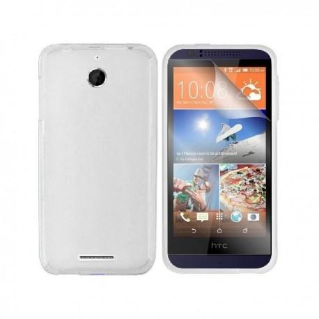 Silikon etui za HTC Desire 510 +Folija ekrana,Bela mat barva
