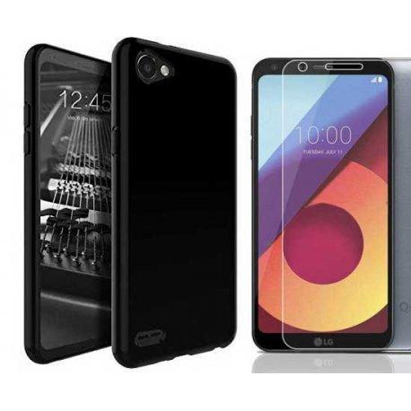 """Silikonski etui """"Jelly"""" črn + zaščitno steklo za LG Q6"""