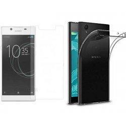 Silikonski etui, prozoren+ zaščitno steklo za Sony Xperia L1