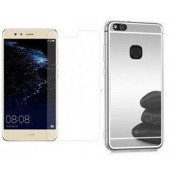 """Silikonski etui """"Mirror"""" in zaščitno steklo za Huawei P10 Lite, srebrna"""