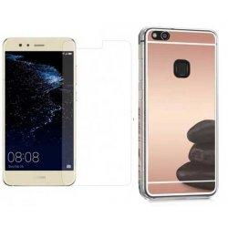 """Silikonski etui """"Mirror"""" in zaščitno steklo za Huawei P10 Lite, pink"""