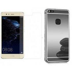 """Silikonski etui """"Mirror"""" in zaščitno steklo za Huawei P10 Lite, siva"""