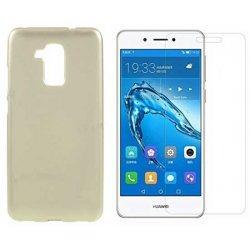"Silikonski etui ""Jelly"" zlat + zaščitno steklo za Huawei Nova Smart"
