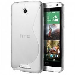 Silikon etui za HTC Desire 510 +Folija ekrana Bela barva