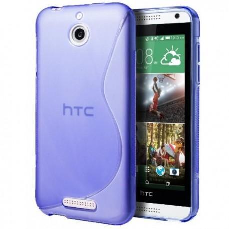 Silikon etui za HTC Desire 510 +Folija ekrana Modra barva