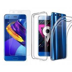 Silikonski etui, prozoren+ zaščitno steklo za Huawei Honor 9