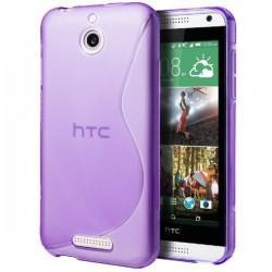 Silikon etui za HTC Desire 510 +Folija ekrana Vijola barva