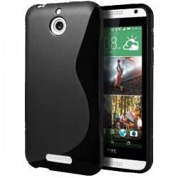 Silikon etui za HTC Desire 510 +Folija ekrana Črna barva