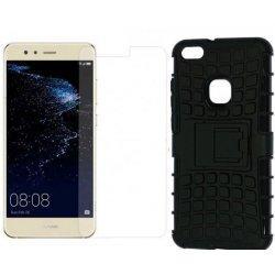 """Etui """"Dual Armor"""" in zaščitno steklo za Huawei P10 Lite, črna barva"""