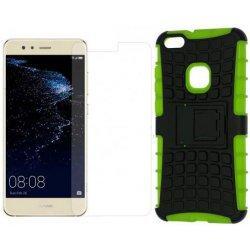 """Etui """"Dual Armor"""" in zaščitno steklo za Huawei P10 Lite, zelena barva"""