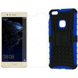 """Etui """"Dual Armor"""" in zaščitno steklo za Huawei P10 Lite, modra barva"""