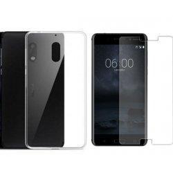 Silikonski etui, prozoren+ zaščitno steklo za Nokia 6
