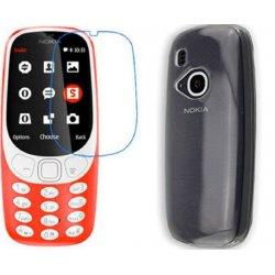 Silikonski etui, prozoren+ zaščitno steklo za Nokia 3310