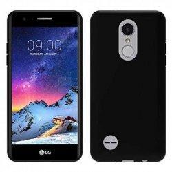 Silikonski etui, črn +zaščitna folija zaslona za LG K10 2017