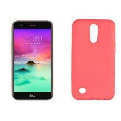 Silikonski etui, pink +zaščitna folija zaslona za LG K10 2017