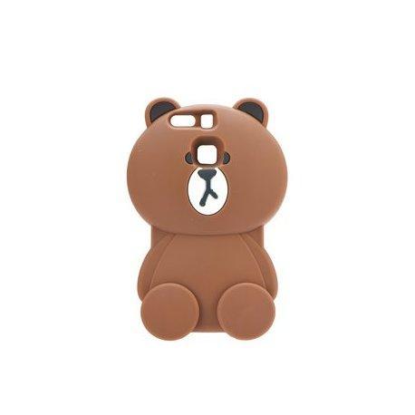 """Silikonski ovitek, etui """"3D Medved"""" za Huawei P9, rjava barva"""