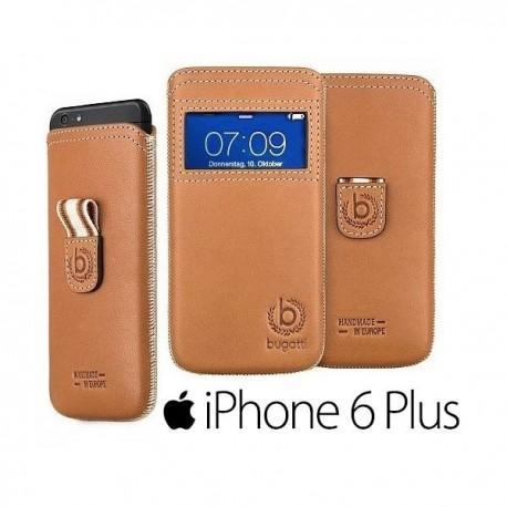 Usnjena Torbica za Apple iPhone 6 Plus (5.5) Bugatti Watch! Premium Rjava barva