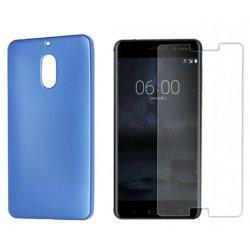 "Silikonski etui ""Jelly"" moder +zaščitno steklo za Nokia 6"