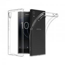 Silikonski etui za Sony Xperia XA1 Plus, 0,3mm, Prozorna barva