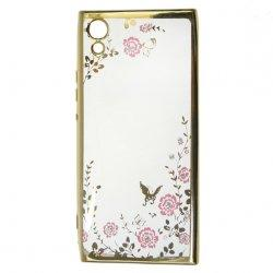 "Etui ""Diamond Case"" za Sony Xperia XA1, zlata barva"