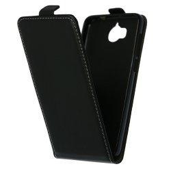 "Preklopna torbica, etui ""flexi"" za Huawei Y6 2017, črna barva"
