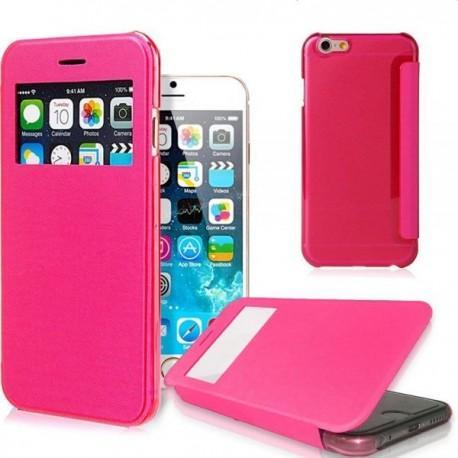 Preklopna Torbica za Apple iPhone 6 Plus +Zaščitna folija ekrana,Pink barva