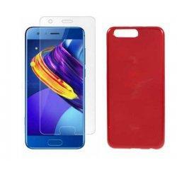 """Silikonski etui """"Jelly"""" rdeč +zaščitno steklo za Huawei Honor 9"""