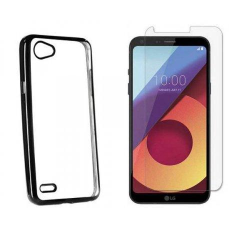 """Etui """"Electro Jelly"""" črn +zaščitno steklo za LG Q6"""