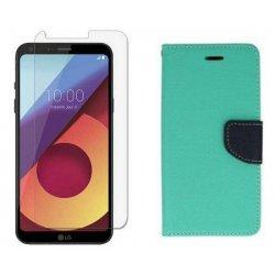 """Etui """"Fancy"""" + zaščitno steklo za LG Q6, Mint barva"""