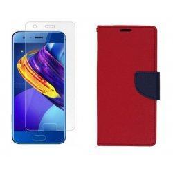 """Etui """"Fancy"""" + zaščitno steklo za Huawei Honor 9, Rdeča barva"""