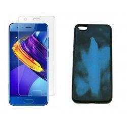 """Etui """"Thermo Case"""" in zaščitno steklo za Huawei Honor 9, Črna barva"""