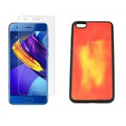 """Etui """"Thermo Case"""" in zaščitno steklo za Huawei Honor 9, Rdeča barva"""
