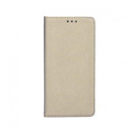 "Preklopna torbica ""Smart Book"" za LG Q6, Zlata barva"