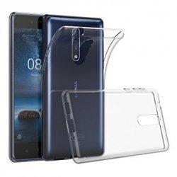 Silikonski etui za Nokia 8, 0,3mm, Prozorna barva