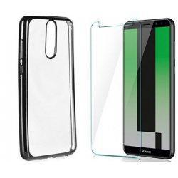 """Etui """"Electro Jelly"""" črn +zaščitno steklo za Huawei Mate 10 Lite"""