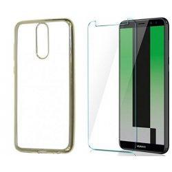 """Etui """"Electro Jelly"""" zlat +zaščitno steklo za Huawei Mate 10 Lite"""