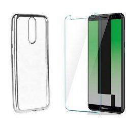 """Etui """"Electro Jelly"""" srebrn +zaščitno steklo za Huawei Mate 10 Lite"""