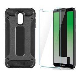 "Etui ""Armor"" +zaščitno steklo za Huawei Mate 10 Lite, črna barva"