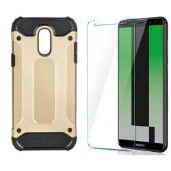 "Etui ""Armor"" +zaščitno steklo za Huawei Mate 10 Lite, zlata barva"