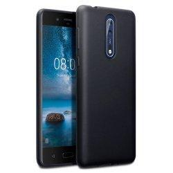 "Silikonski etui ""Jelly"" za Nokia 8, Črna barva"
