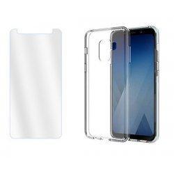 Silikonski etui, prozoren+ zaščitno steklo za Samsung Galaxy A8 2018