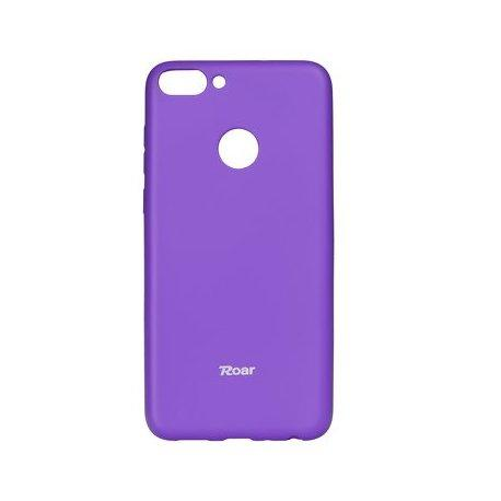 "Silikonski etui ""Roar All Day"" za Huawei P Smart, vijolična barva"